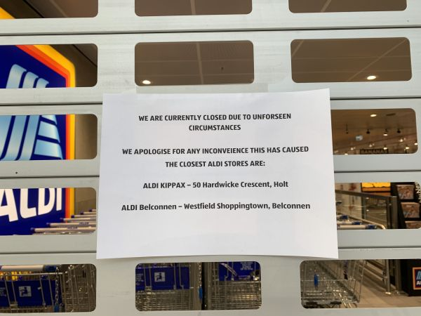 Aldi closed