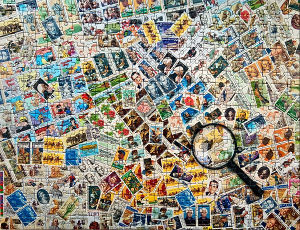 Stamps jigsaw