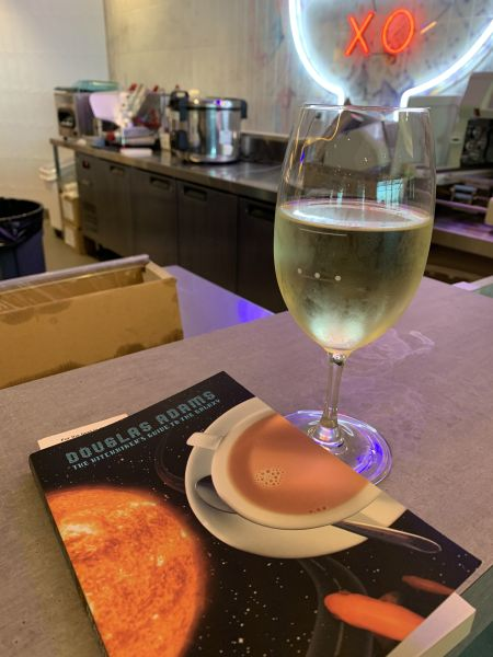 Wine and a book