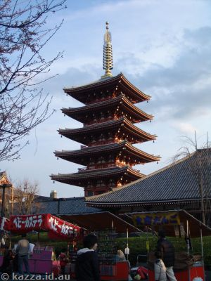 Five storey pagoda at Asakusa