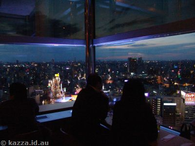 Drinking and view from Asahi Beer Tower