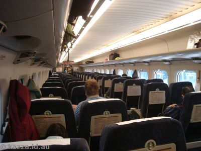 The trains look a lot like aircraft on the inside!