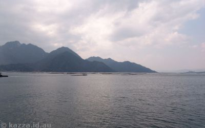 On the ferry over to Miyajima