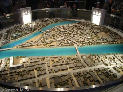 Model of Hiroshima before the blast