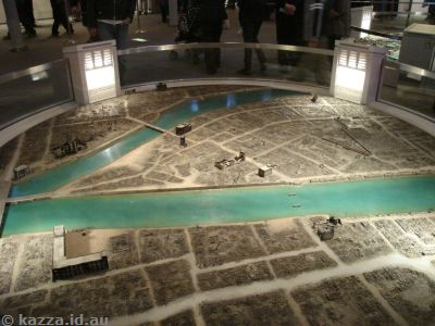 Model of Hiroshima after the blast
