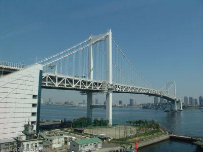 Rainbow Bridge from the train to Odaiba
