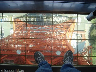 Looking straight down from Tokyo Tower