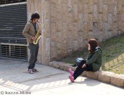 Dude playing the sax