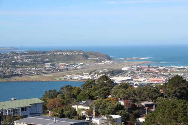 Wellington Airport from Mount Victoria