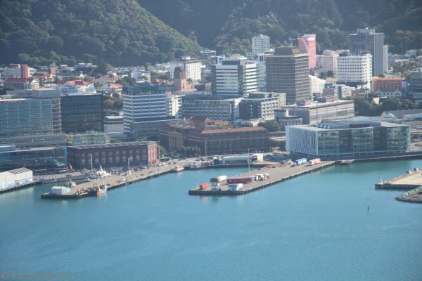 Wellington Railway Station from Mount Victoria