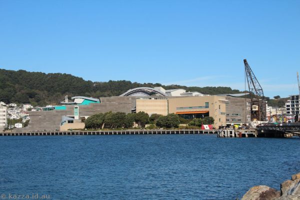 Te Papa museum and Wellington Harbour