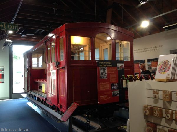 Old cable car in the Cable Car Museum