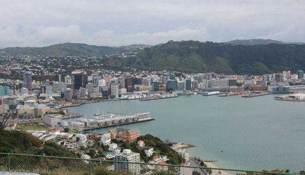 Wellington from the northern lookout on Mount Victoria