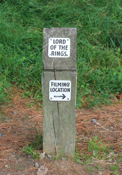 Sign for Lord of the Rings filming location