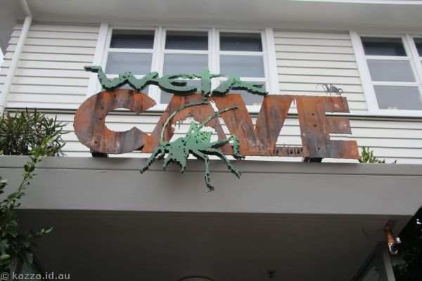 Weta Cave sign
