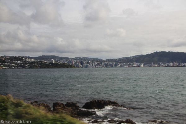 Looking towards Wellington from Massey Road on the Miramar peninsula