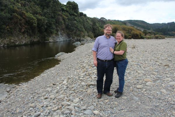 Stu and Kaz at the Hutt River