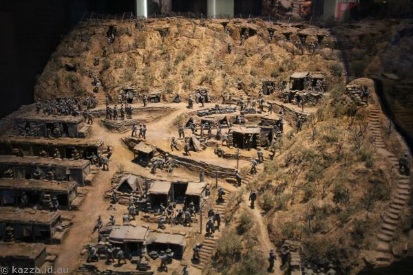 Diorama of Gallipoli