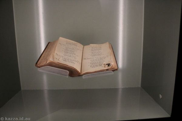 Maori prayer book which saved the life of Private Hone Tahitahi by stopping a bullet