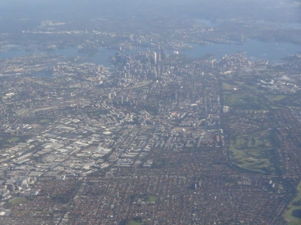 Sydney from above the airport