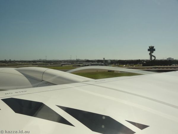 Taking off from Sydney Airport