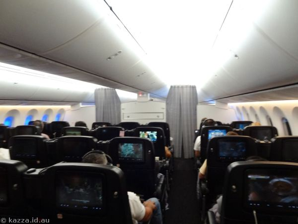 Premium Economy cabin area of the 787