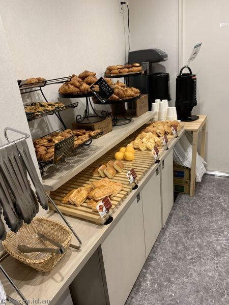 Breakfast bar at the hotel