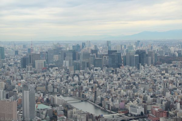 Tokyo from the Tokyo Skytree at the 350m level