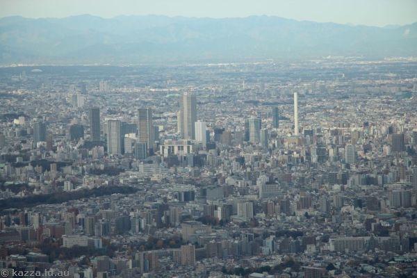 View north west from Skytree 450m level