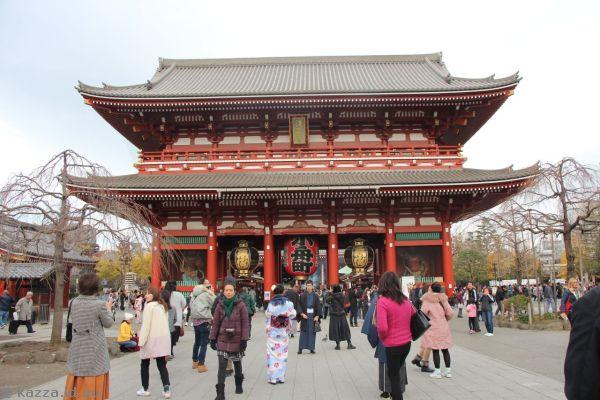 Hozomon gate at Sensoji temple