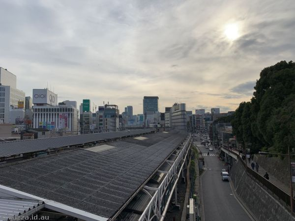 Looking south over Ueno Station