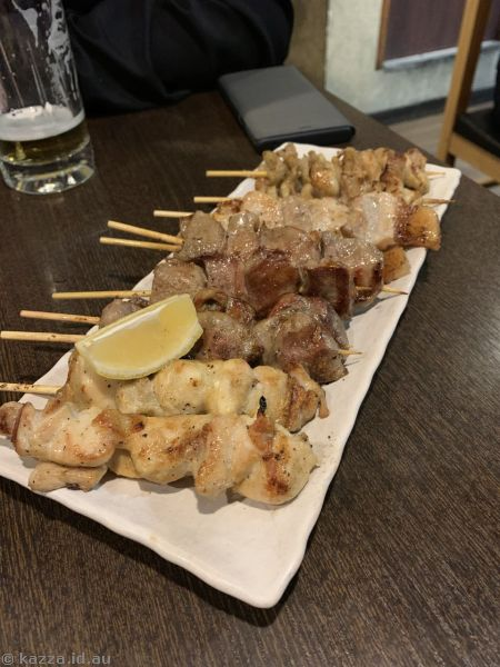Delicious yakatori we had, but do not eat at this restaurant!!