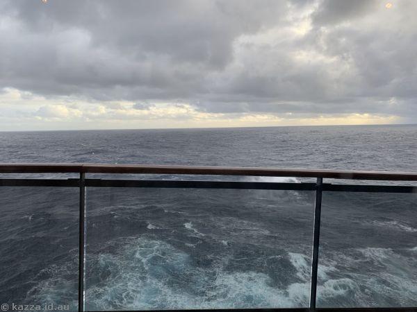 Pitching forward on heavy seas