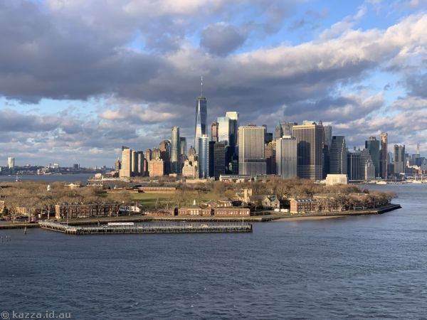 New York and Governors Island from Queen Mary 2