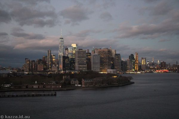 Governors Island and New York from Queen Mary 2