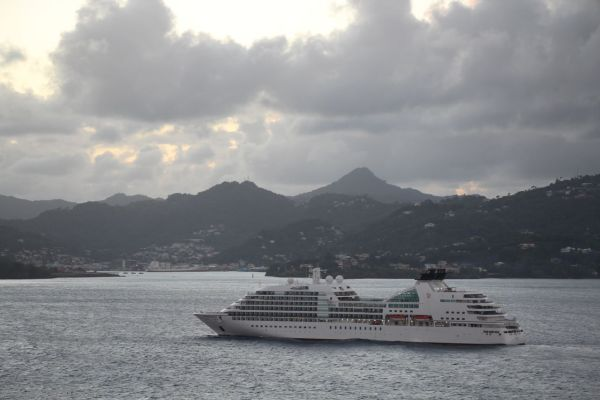 Seabourn Odyssey arriving at St Lucia
