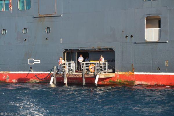 Queen Mary 2 tender boarding area