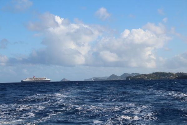 Queen Mary 2 and St Lucia