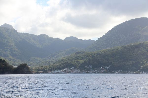 Soufriere, St Lucia from the catamaran tour