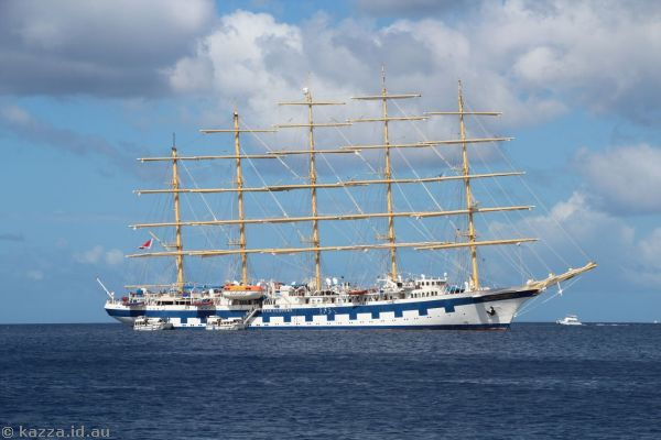 Star Clippers' Royal Clipper off St Lucia