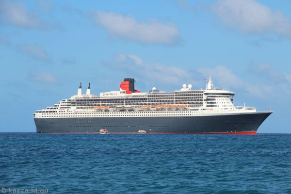 Queen Mary 2 off St Lucia