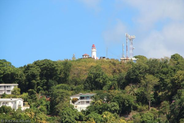 St Lucia from the catamaran