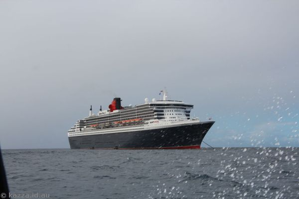 Queen Mary 2 from the tender
