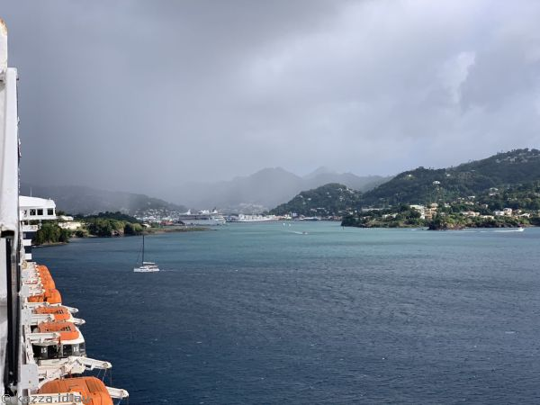 St Lucia from Queen Mary 2