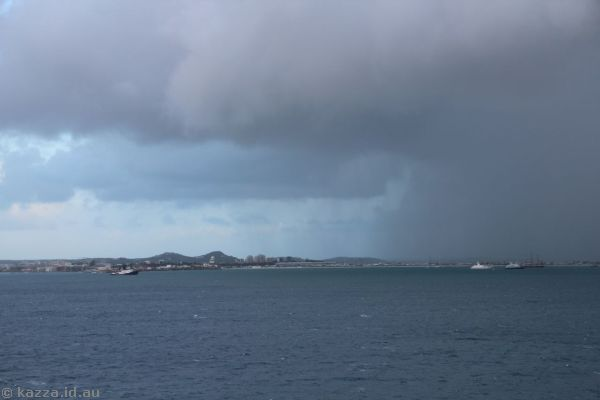 Rain over St Maarten
