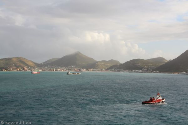 St Maarten from Queen Mary 2