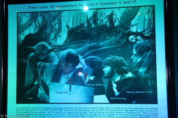 Six puppeteers controlled Yoda