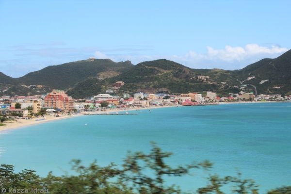 Philipsburg from the taxi