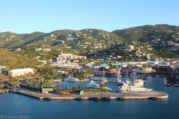 St Thomas from Queen Mary 2