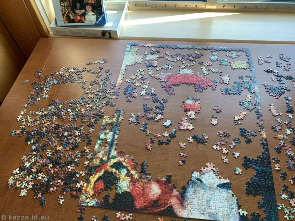 Jigsaw destroyed by some lowlife scum
